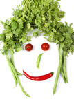 Vegetables face Royalty Free Stock Photo