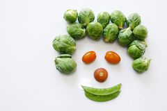 Vegetables face Stock Photography