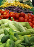 Vegetables at the Farmer's Market. Colorful display of fresh vegetables at the Farmer's Market Stock Photography