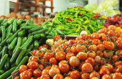 Vegetables at a farmers market.  stock photography