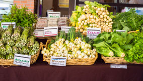Vegetables at farmers market stock image
