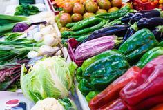 Vegetables at farmers market. Stock Photography