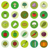 Vegetables Filled Outline Vector Icon Set Royalty Free Stock Photography