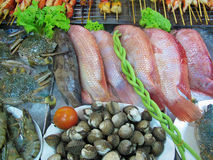 Vegetables and fish Stock Photo
