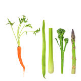 Vegetables, Five a Day Royalty Free Stock Photography