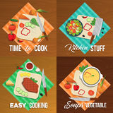 Vegetables Flat Icon Set Stock Images
