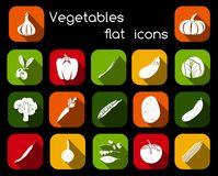 Vegetables Flat Icons Stock Photos