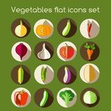 Vegetables flat icons Royalty Free Stock Photo