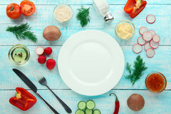 Vegetables. flat lay Royalty Free Stock Image