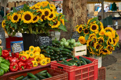 Vegetables and flowers for sale in Provence Royalty Free Stock Photos