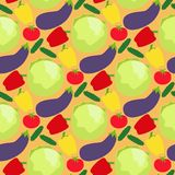 Vegetables food cellulose vector peppers tomatoes porridge healthy food seamless pattern background. Vegetables food cellulose vector seamless pattern peppers Royalty Free Stock Photo