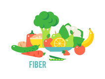 Vegetables food cellulose vector set. Royalty Free Stock Photo