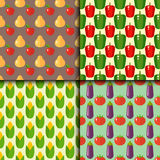 Vegetables food cellulose vector set peppers tomatoes porridge healthy food seamless pattern Stock Photo