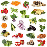 Vegetables Food Collage. Collage of fresh vegetables, isolated on white Royalty Free Stock Images