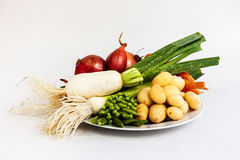 Vegetables food. The vegetables are the healthiest food in the Mediterranean diet stock photo