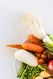 Vegetables food. The vegetables are the healthiest food in the Mediterranean diet stock images