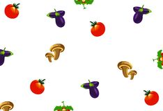 Vegetables food  seamless pattern Stock Photo
