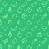Vegetables Food Shop Pattern Background. Vector Stock Photography