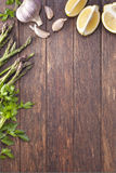 Vegetables Food Wood Background Stock Images