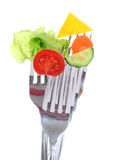 Vegetables on forks. Stock Photo