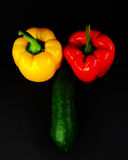 Vegetables in the form of male genitalia Stock Photo