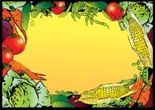 Vegetables frame. Stock Images