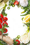 Vegetables frame. royalty free stock photo