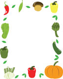 Vegetables frame Royalty Free Stock Photography