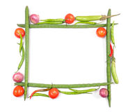 Vegetables frame royalty free stock images