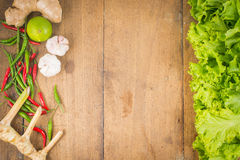 Vegetables Frame Background. Fresh vegetables on the old wooden board Royalty Free Stock Photos