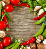 Vegetables frame. Royalty Free Stock Photography