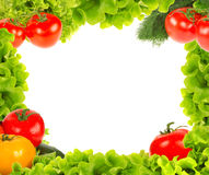 Vegetables frame Royalty Free Stock Photo