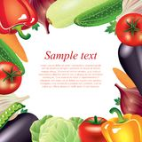 Vegetables frame vector background Stock Photo