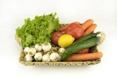 Vegetables . Fresh Bio Vegetable in a Basket Stock Photos