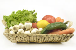 Vegetables . Fresh Bio Vegetable in a Basket Stock Image