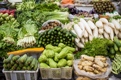 Vegetables. Fresh vegetables in Chinese market royalty free stock image