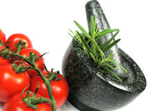 Vegetables and fresh herbs Stock Photo