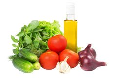Vegetables. Fresh vegetables isolated on white background Royalty Free Stock Photo