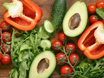 Vegetables for fresh salad Stock Images