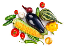 Vegetables fresh still life top view Royalty Free Stock Image