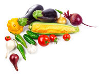 Vegetables fresh still life top view Stock Photos