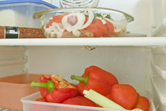 Vegetables in the fridge Royalty Free Stock Images