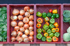 Vegetables in front of the grocery store in autumn Royalty Free Stock Image
