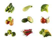 Vegetables and fruit stock photography