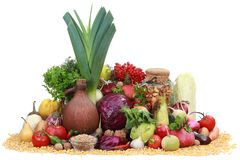 Vegetables and fruit Stock Images