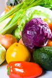 Vegetables and fruit Stock Photos