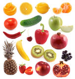 Vegetables and fruit collage Royalty Free Stock Photo