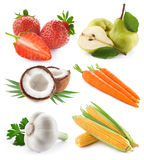 Vegetables and fruit collection Royalty Free Stock Images