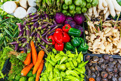 Vegetables and fruit on market Royalty Free Stock Image