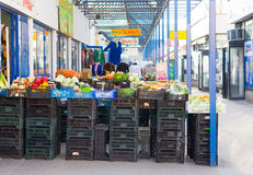 Vegetables and fruit. POZNAN, POLAND - MARCH 14, 2014: Fresh fruit and vegetables for sale by some small stores Stock Image